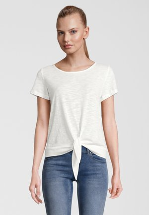 SWIFT WITH TIE WAIST - T-shirt print - white