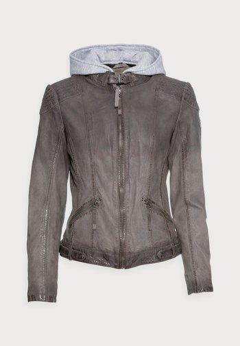 TIFFY LAMOV - Leather jacket - anthra