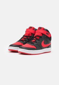 Nike Sportswear - COURT BOROUGH MID 2 UNISEX - Zapatillas altas - black/university red/white - 1