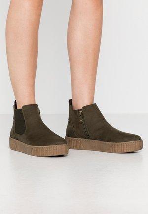 Kotníková obuv - kahki