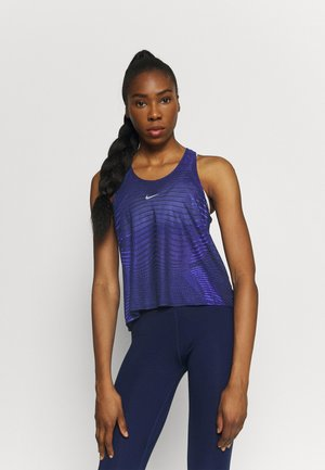 TANK - Sports shirt - black/lapis/metallic silver
