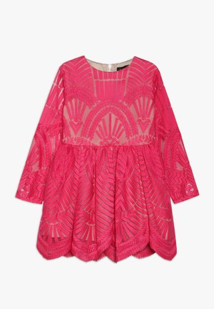 EMBROIDED DRESS - Sukienka koktajlowa - paradise pink