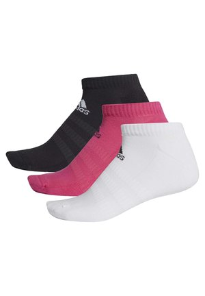 CUSHIONED LOW-CUT SOCKS 3 PAIRS - Skarpety sportowe - burgundy
