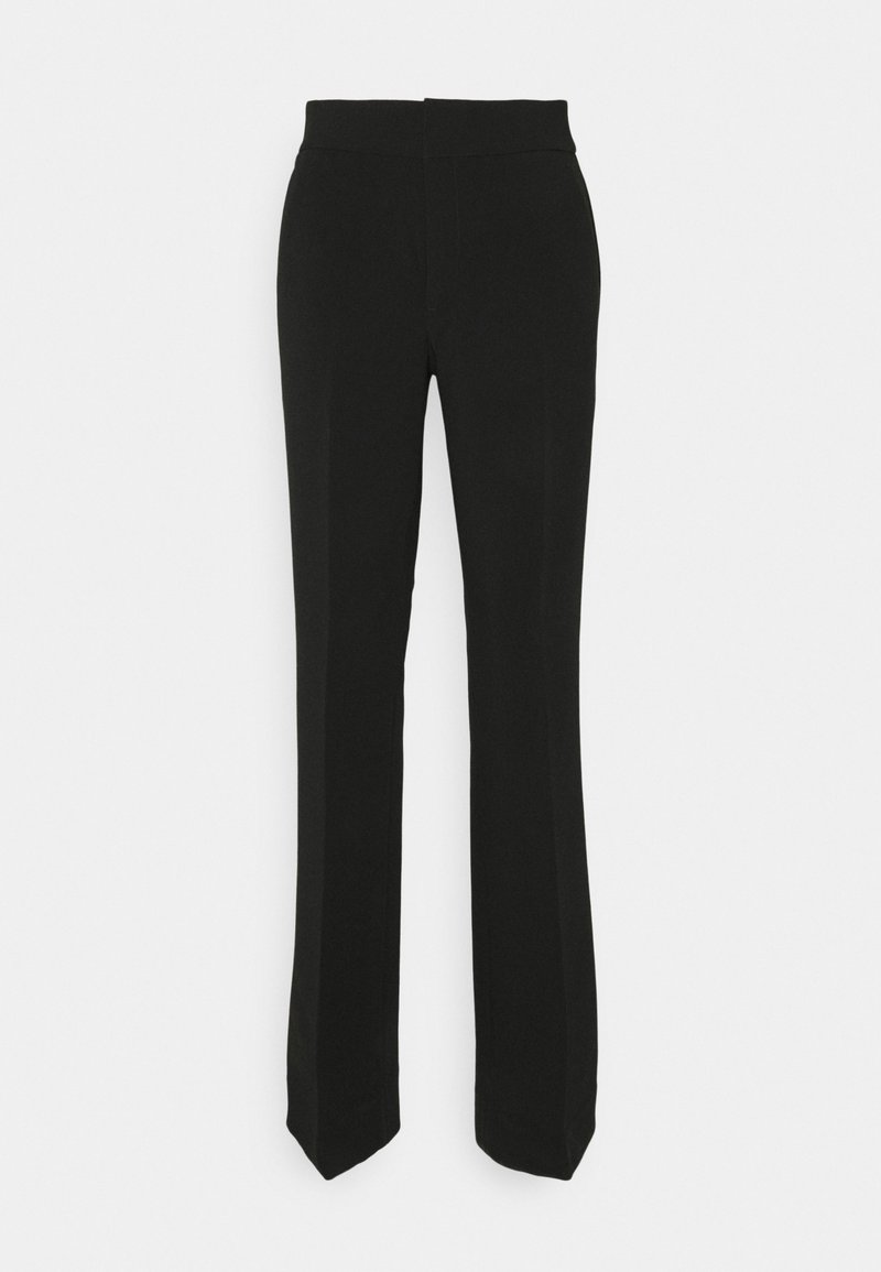 Banana Republic - SLIM FLARE STRUCTURED  - Trousers - black
