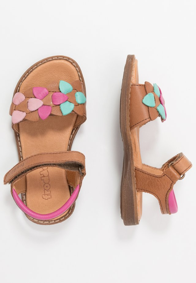 LORE FLOWERS MEDIUM FIT - Sandals - brown