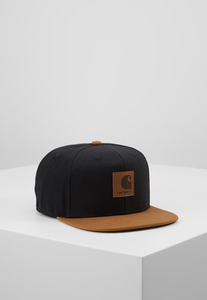 LOGO BICOLORED - Caps - black/hamilton brown