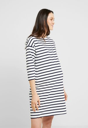 Žerzejové šaty - dark blue/off-white