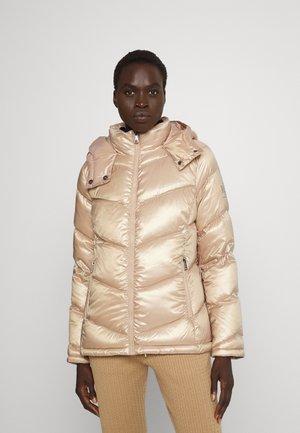 INSULATED COAT - Down jacket - golden beige