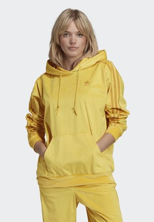 SPORTS INSPIRED HOODED SWEAT - Hoodie - yellow
