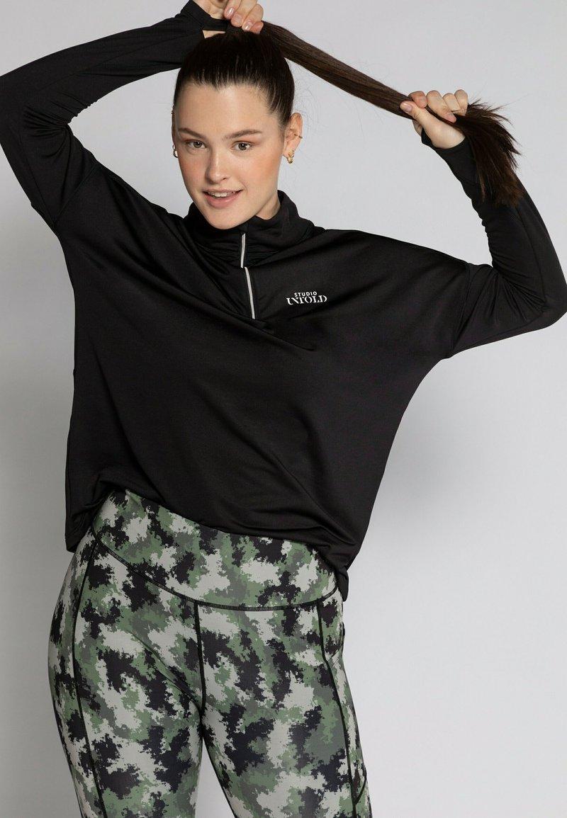 Studio Untold - T-shirt à manches longues - schwarz