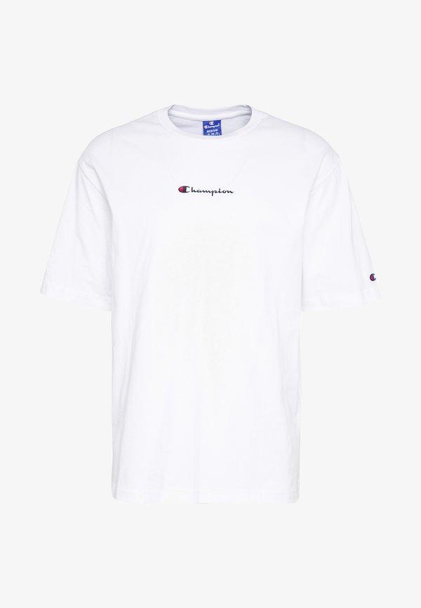 Champion Rochester ROCHESTER CREWNECK - T-shirt basic - white/biały Odzież Męska VKUB