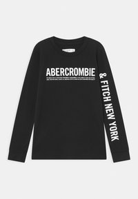 Abercrombie & Fitch - LOGO - Long sleeved top - black - 0