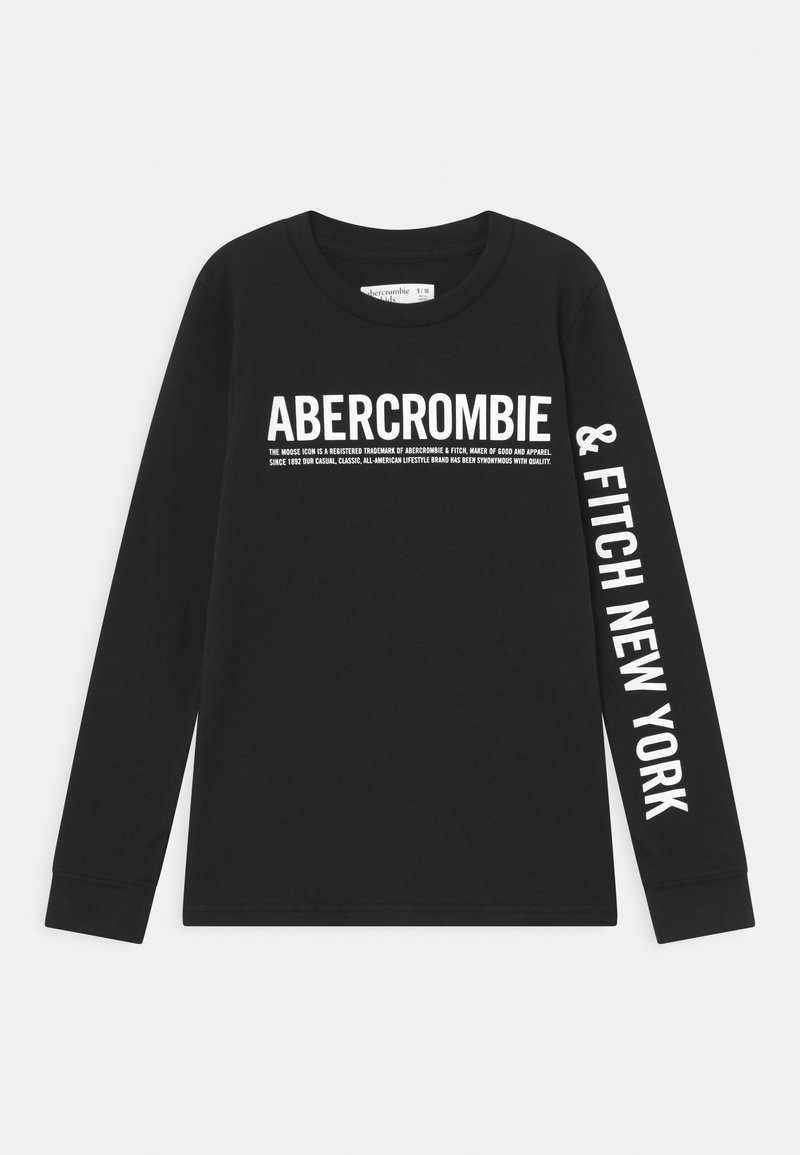 Abercrombie & Fitch - LOGO - Long sleeved top - black