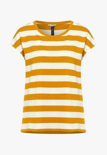 MIT STREIFEN MUSTER - Print T-shirt - gelb
