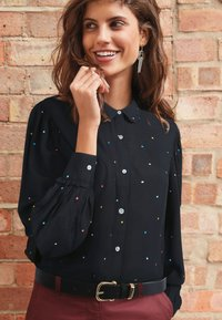 Next - Button-down blouse - black - 0