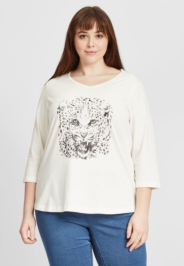 Långärmad tröja - off-white