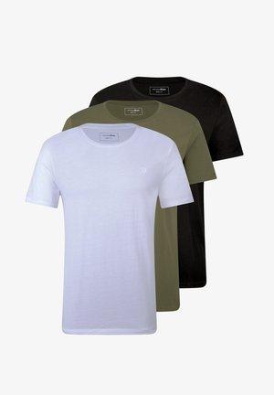 DREIERPACK - Basic T-shirt - white