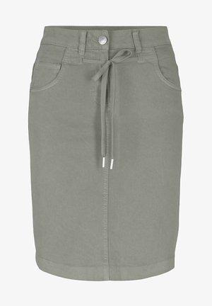 MIT KORDELZUG - A-line skirt - prairie grass green