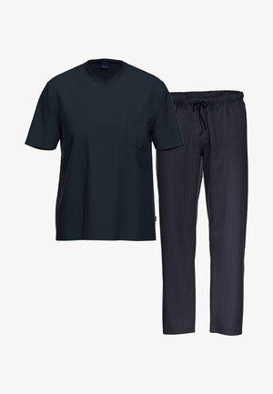 2 SET - Pyjama - blau / blau gemustert