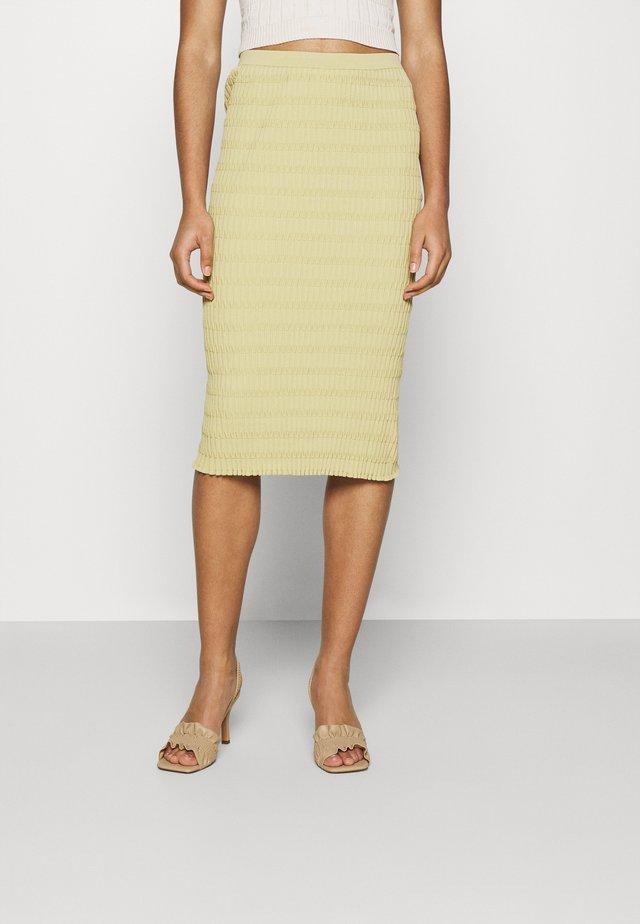 SKIRT - Blyantnederdel / pencil skirts - beige/green