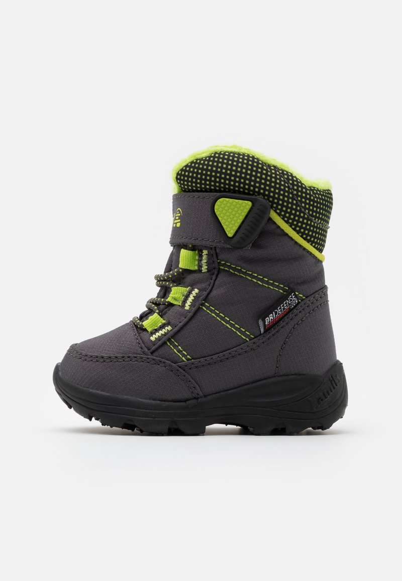Kamik - STANCE UNISEX - Winter boots - charcoal/lime