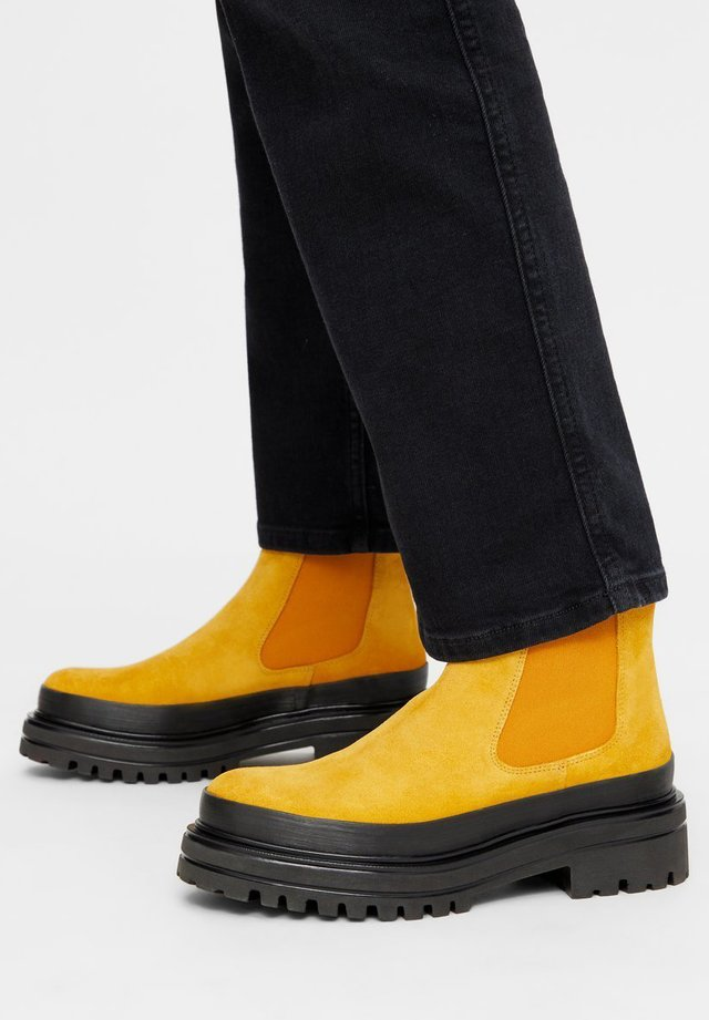 BIADICY  - Platform ankle boots - mustard
