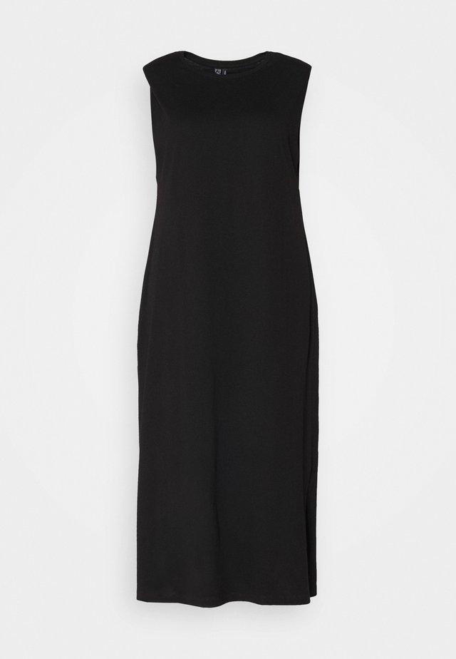 VMEDEN CALF DRESS CURVE - Day dress - black