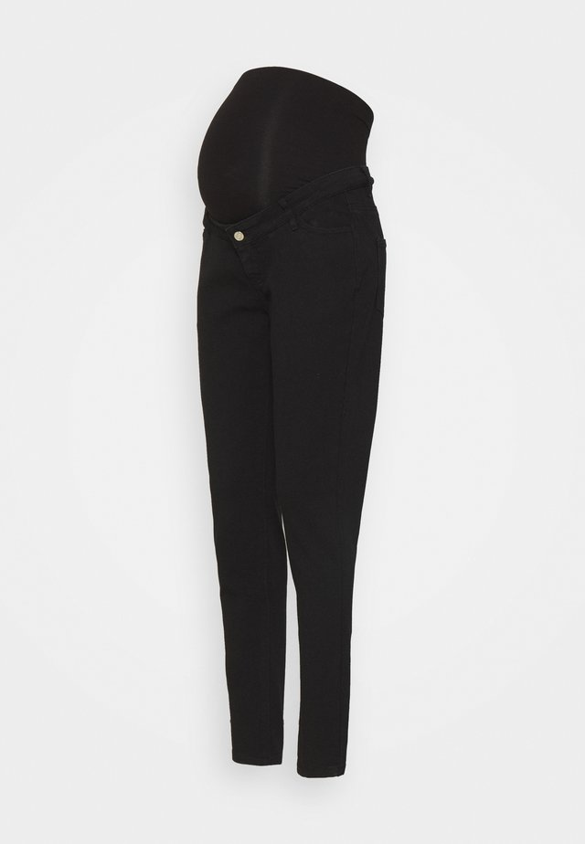 MATERNITY WRATH - Straight leg jeans - black