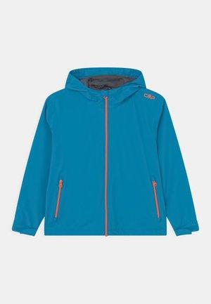 RAIN FIX HOOD UNISEX - Waterproof jacket - blue/orange