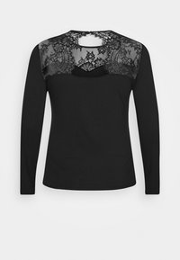 Anna Field Curvy - Long sleeved top - black - 1