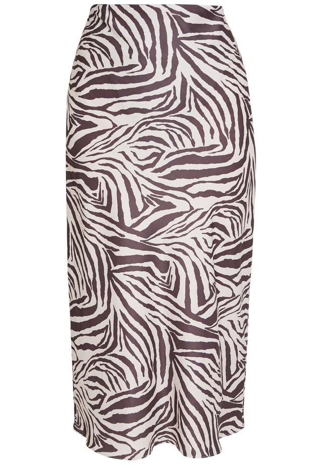 ZEBRA SKIRT - Pencil skirt - beige/black
