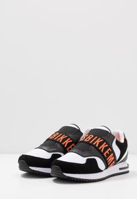 Bikkembergs - HALED - Półbuty wsuwane - black/white/orange - 2