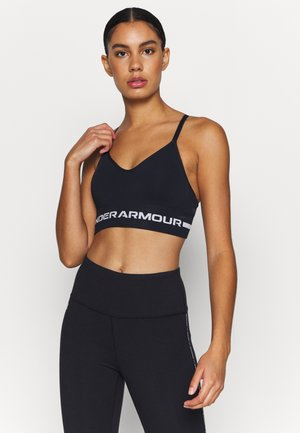 SEAMLESS LOW LONG BRA - Light support sports bra - black