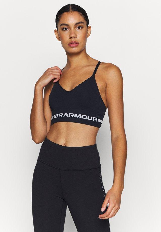 SEAMLESS LOW LONG BRA - Light support sports bra - black
