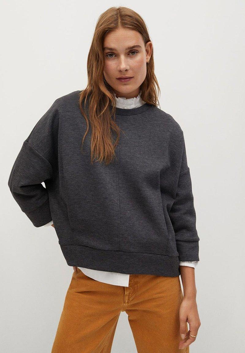 Mango - MIA - Sweatshirt - dunkelgrau meliert