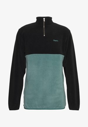 SOFTER DOUBLE - Fleece jumper - black