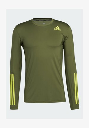 TECHFIT 3-STRIPES FITTED LONG-SLEEVE TOP LONG-SLEEVE  - Funktionströja - green