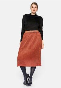 Sheego - Pencil skirt - rostorange - 1