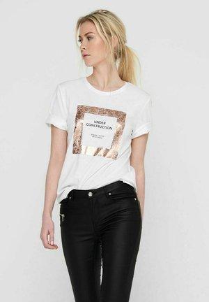 ONLIVY - Print T-shirt - bright white