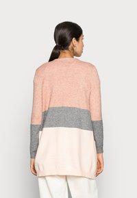 ONLY - ONLQUEEN LONG CARDIGAN - Kardigan - misty rose/mottled grey melange/cloud pink melange - 2