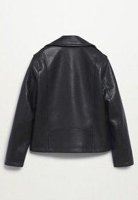 Mango - Faux leather jacket - schwarz - 1