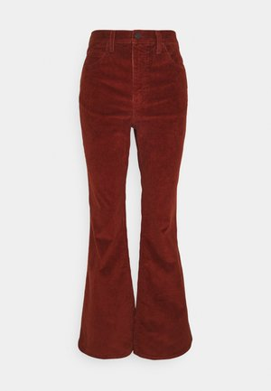 70S HIGH FLARE - Jean flare - red