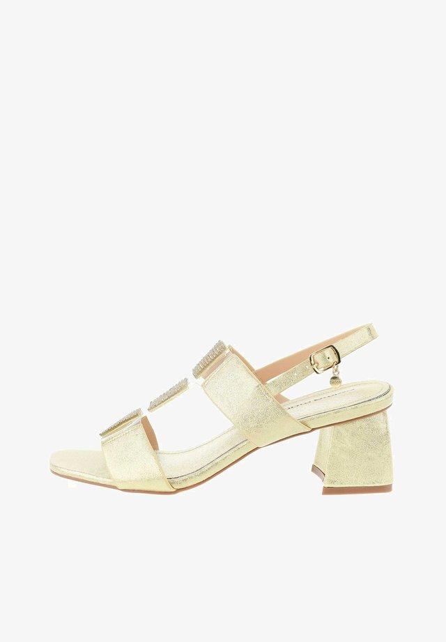 PERGANO - Sandals - platinum