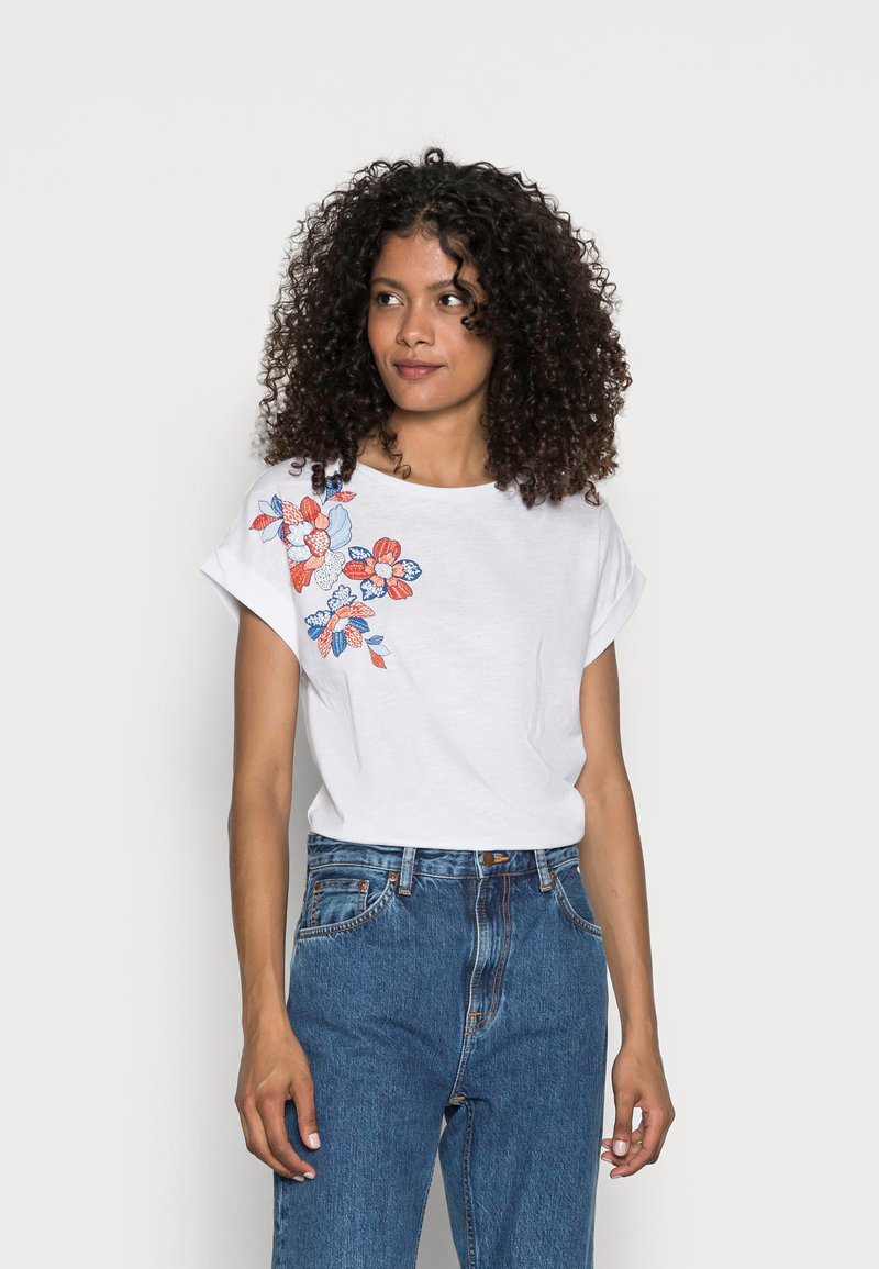 Springfield - CAMISETA SIFNOS - Print T-shirt - white