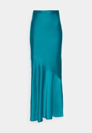 BIAS MAXI SKIRT - A-line skirt - dark teal
