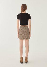 PULL&BEAR - Mini skirt - brown - 2
