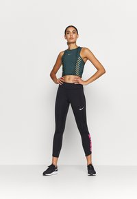 Nike Performance - RUNWAY - Sports shirt - ash green/silver - 1