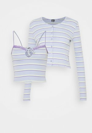 STRIPED CARDIGAN SET - Gilet - blue