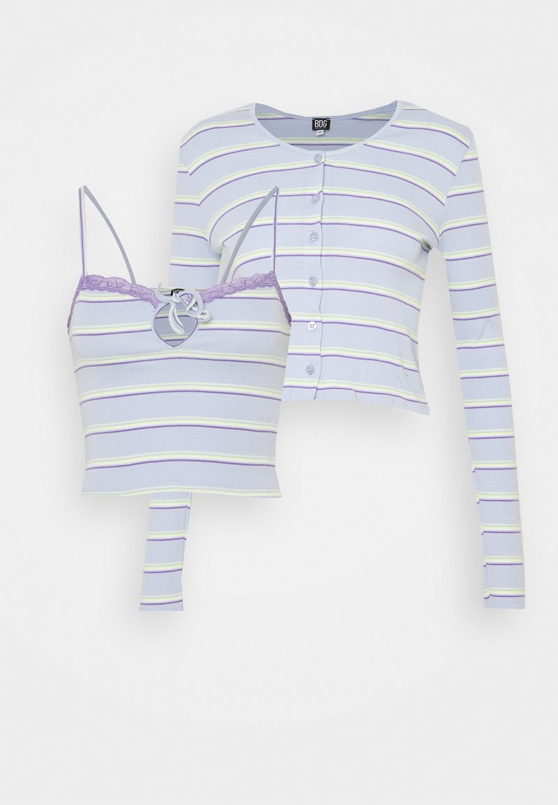 BDG Urban Outfitters - STRIPED CARDIGAN SET - Vest - blue