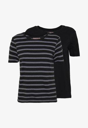 2 PACK - T-shirts med print - black/multicoloured